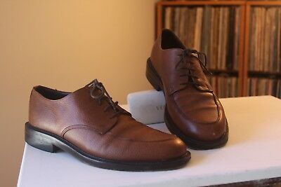aa0bb390e1a Brooks Brothers Brown Pebble Leather Derby Shoes Men s Size 10 D Made In  Italy