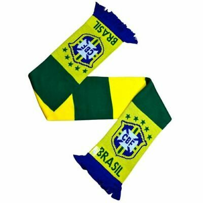 Official Brazil Football Club Crest Colours Green Yellow Brasil Bar Scarf
