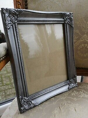 Silver Antique Effect Waxed Photo Picture Frame 10x8