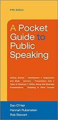 [PDF] A Pocket Guide to Public Speaking by Dan OHair - Email Delivery