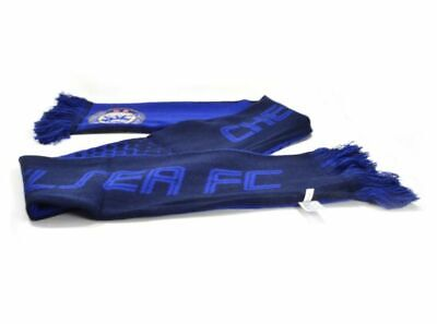 Official Chelsea Football Club Crest Colours Blue Fade Design Scarf