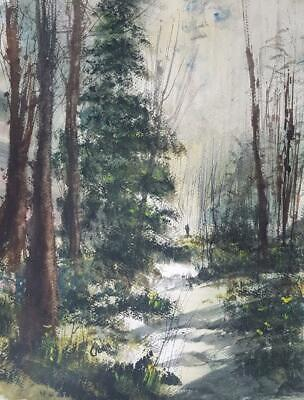 Woodland Walk Original Art Watercolour Painting by Steven Cronin