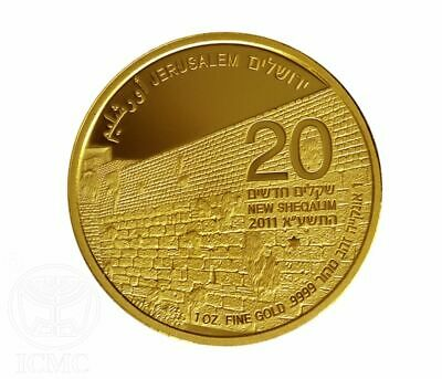 The Western Wall Gold Bullion Coin 1Oz/9999 2011 Commemorative Coins Collectible
