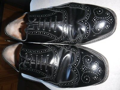 f3fb2d4ad3cfd MENS BARKER DERBY shoes black leather size 10 (Wide fitting) No ...