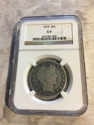 1915 P Ngc Certified Key Date Barber Half Dollar Low Mintage 90% Silver Coin