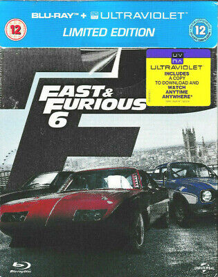 Fast And Furious 6  - Limited Edition STEELBOOK Blu Ray  + UV - Brand New