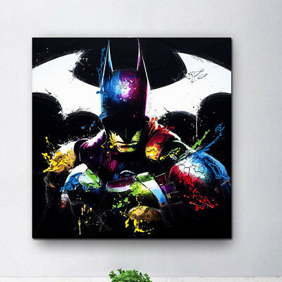 Marvel Batman Canvas Print Oil Painting Superhero Wall Art Decor Poster For Fans