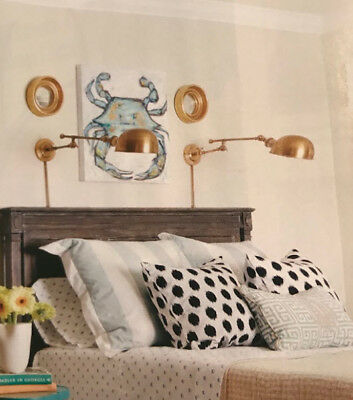 Pottery Barn Barclay Arc Wall Sconce Antique Brass Bedroom Bed Swing Arm NIB