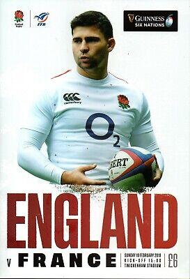 Guinness Six Nations Rugby England V France Programme 10Th Feb '19 Twickenham B