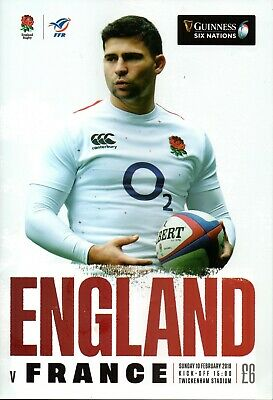 GUINNESS SIX NATIONS RUGBY ENGLAND V FRANCE PROGRAMME 10th FEB '19 TWICKENHAM A