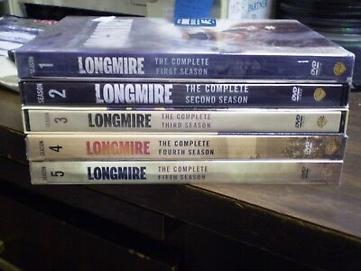 (5) Longmire Season DVD Lot: Seasons 1, 2, 3, 4 & 5   w/Slipcovers   Brand NEW