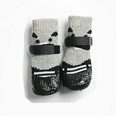 Waterproof Dog Socks Non-Slip Pet Rain Snow Boot Shoes for Injured Paws All Si&~