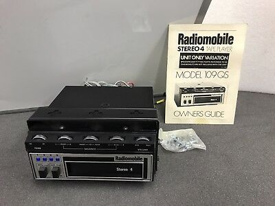Radiomobile Stereo 4 Old Classic Vintage 8 Track Cassette Car New Old Stock
