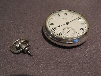 Antique Waltham Usa  Silver Pocket Watch For Repair
