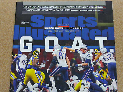 NEW ENGLAND PATRIOTS Sports Illustrated Super Bowl LIII Cover