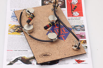 """Prewired Assembly fits Gibson® ES /Luxe 56-60' Bumble Bee Caps/CTS """"TVT"""" Pots"""
