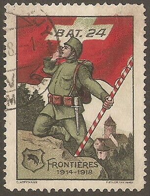 Soldiers Stamp Frontiers  1914-1918  Bat 24    Good Used