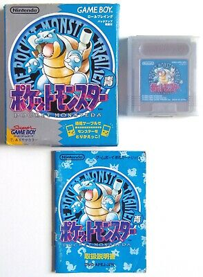 POCKET MONSTERS Pokemon Blue Nintendo Game Boy GB Japan (3)
