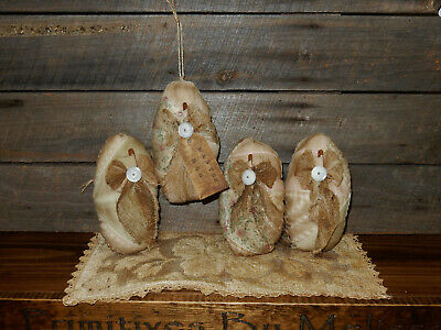 FoLK Art PrimiTive oLd QuilT EasTer EGG OrnamenTs OrNies BasKet Bowl DecoraTion