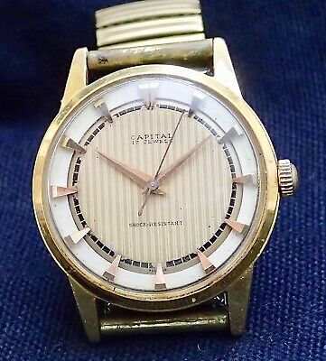 Vintage CAPITAL  Gents wristwatch complete working 50`s, 60`s