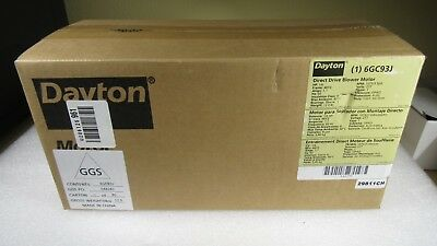 **NEW** DAYTON 6GC93J Direct Drive Blower Motor, 1/6 hp, 1075 RPM, 3 speed