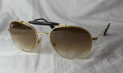 86712d784702e Ray-Ban Sunglasses RB 3540 001 51 New Gold - Brown