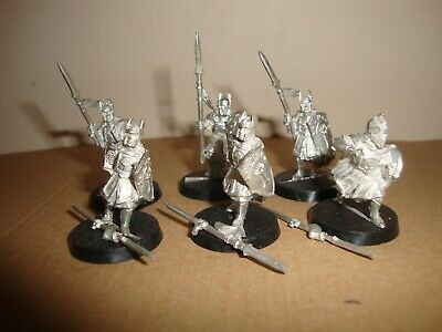 Lord of the Rings LOTR Miniature figures - Last Alliance Men of Gondor x6 spears