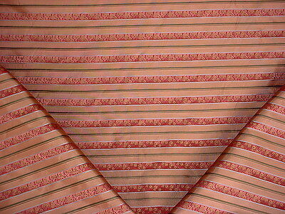 14Y Kravet / Lee Jofa Burgundy Floral Satin Silk Stripe Upholstery Fabric