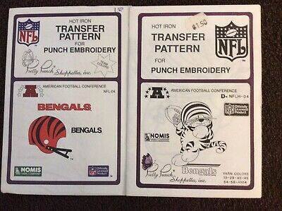 2 NFL Pretty Punch Embroidery Patterns - Bengals