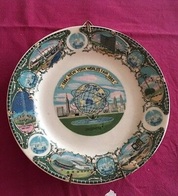 1964 1965 Vintage New York Worlds Fair Collectible Plate