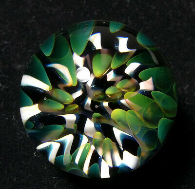Handmade contemporary art glass marble Fumed Reef Implosion - Allover Marbles