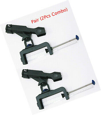 KUFA SPORTS Clamp on fishing rods holder with large clamp opening 2PCS COMBO