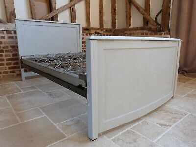 Vintage Retro small double grey painted bed - ideal for teenager small bedroom