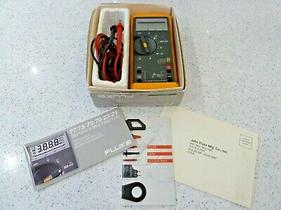 FLUKE 77 SERIES 2 Multimeter with Original Test Leads, Box and User Manuals