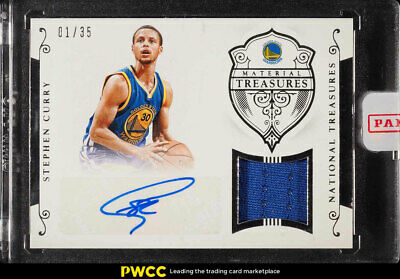 2015 National Treasures Material Stephen Curry AUTO PATCH 1 35  MTS-SC ( 1fd99cb45