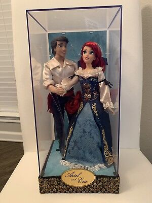 Disney Store Fairytale Designer Collection LE Doll Set-Ariel and Eric*New
