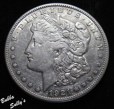 1921 S Morgan Silver Dollar <> ABOUT UNCIRCULATED
