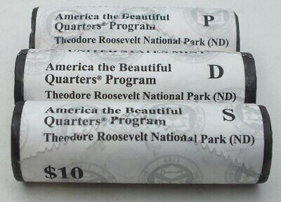 2016 Theodore Roosevelt National Park PDS $10 Coin Roll United States Mint AZ845