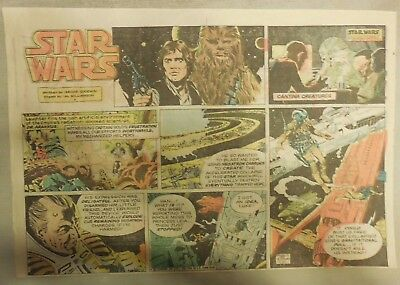 Star Wars Sunday Page by Al Williamson from 12/20/1981 Large Half Page Size!