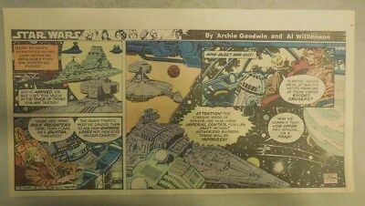 Star Wars Sunday Page by Al Williamson from 5/24/1981 Third Page Size!