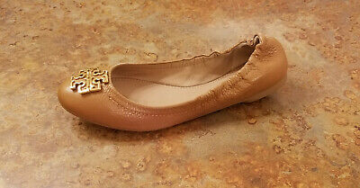 1607b2520db4 New! Tory Burch  Melinda  Ballet Flats Brown Leather Womens Size 8 M MSRP