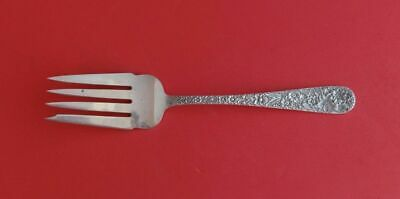"""Repousse by Kirk Sterling Silver Cold Meat Fork 8 1/2"""" Serving"""