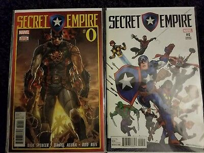 Secret Empire (2017 Marvel) # 0 NM 1:20 Frenz Variant Uncertified and A cover #0