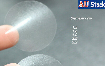 Sticker Clear Transparent Circle Round Label Adhesive Seal 1.3/1.9 /2.5/ 3.2/4cm
