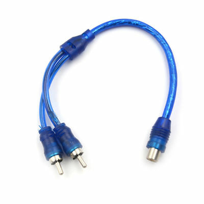 RCA 1 Female To 2 Male Splitter Stereo Audio Y Adapter Cable FREE SHIPPING