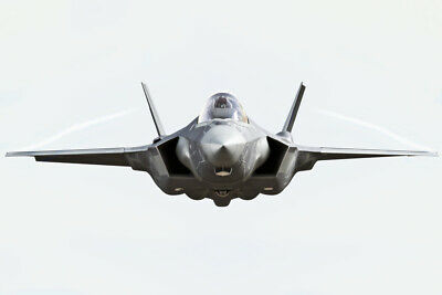 F35 LIGHTNING II Fighter Jet Plane Front Isolated Photo Poster 18x12 inch