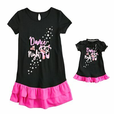 NWT Girls Ballet Nightgown Matching Doll Gown Fits American Girl Dollie   Me 21ecf5345