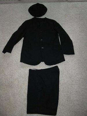 Antique/Vintage Little Boy's 3 pc. Navy Dressy Shorts Suit, & hat