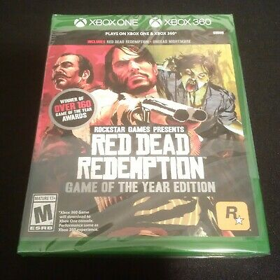 Red Dead Redemption Game of the Year Edition Xbox One Xbox 360 New and Sealed