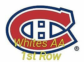 2 Tickets Whites Row AA Montreal Canadiens vs Columbus Blue Jackets 19th feb